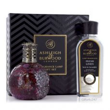 Ashleigh & Burwood Fragrance  Lamp Gift Set - Rose Bud & Fresh Linen Lamp Oil